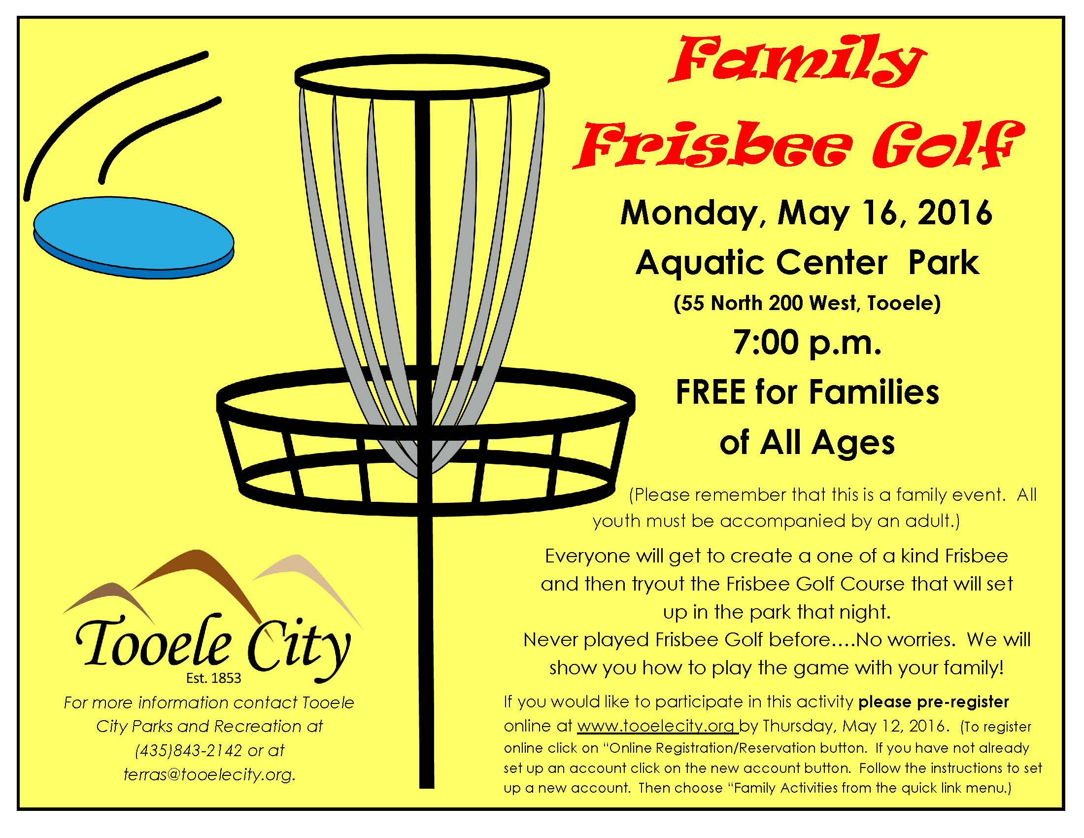 FREE Family Frisbee Golf 2016 @ Aquatic Center Park | Tooele | Utah | United States