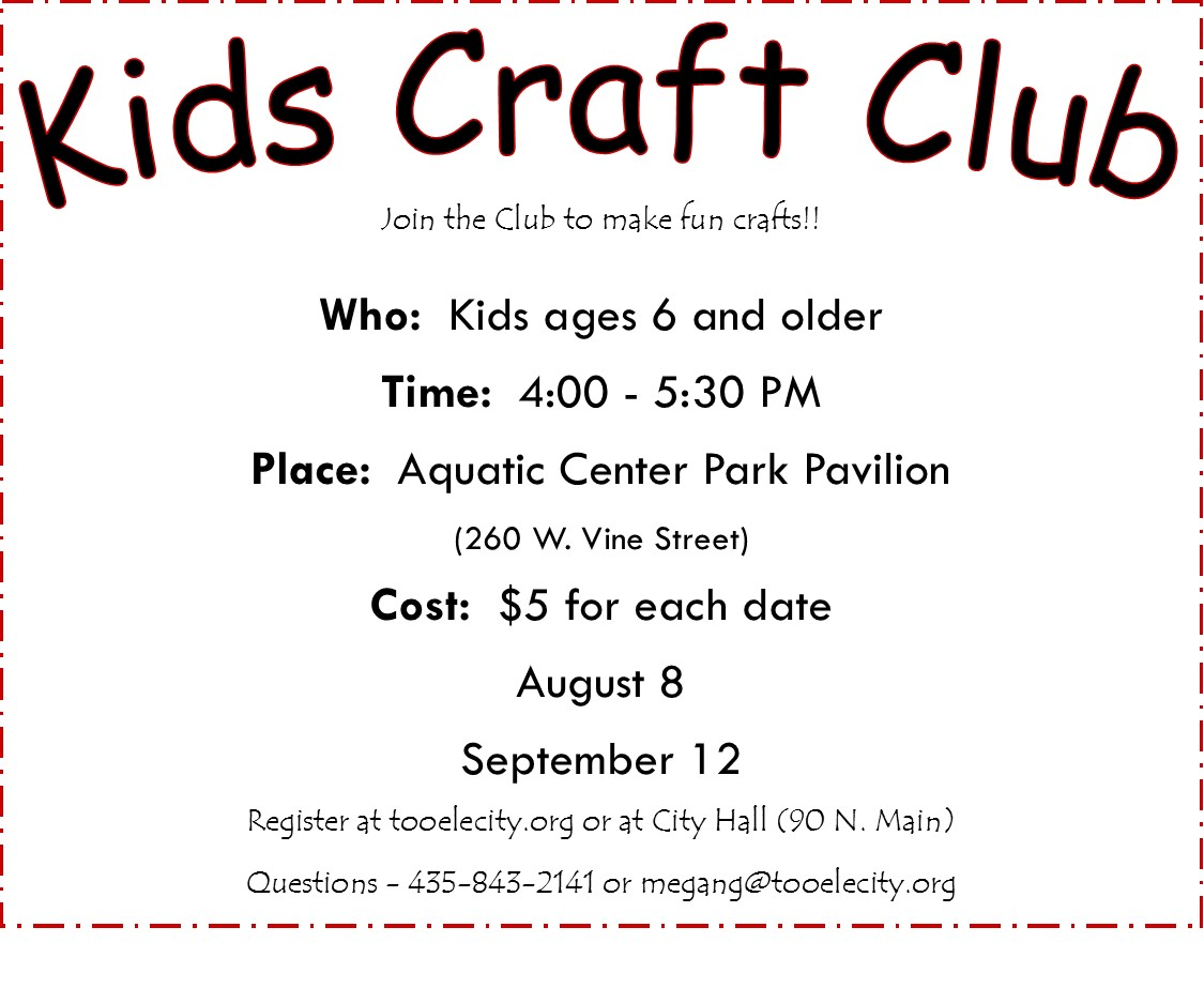 Kids Craft Club:  Fall @ Aquatic Center Park Pavilion | Tooele | Utah | United States