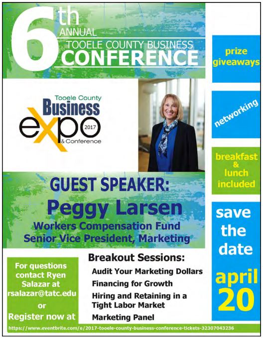 Tooele County Business Conference and Expo 2017 @ Tooele Applied Technology College | Tooele | Utah | United States