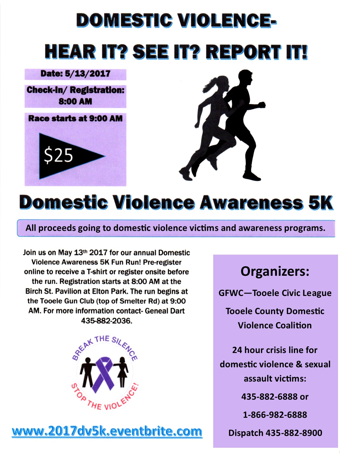 Domestic Violence Awareness 5K @ Elton Park | Tooele | Utah | United States