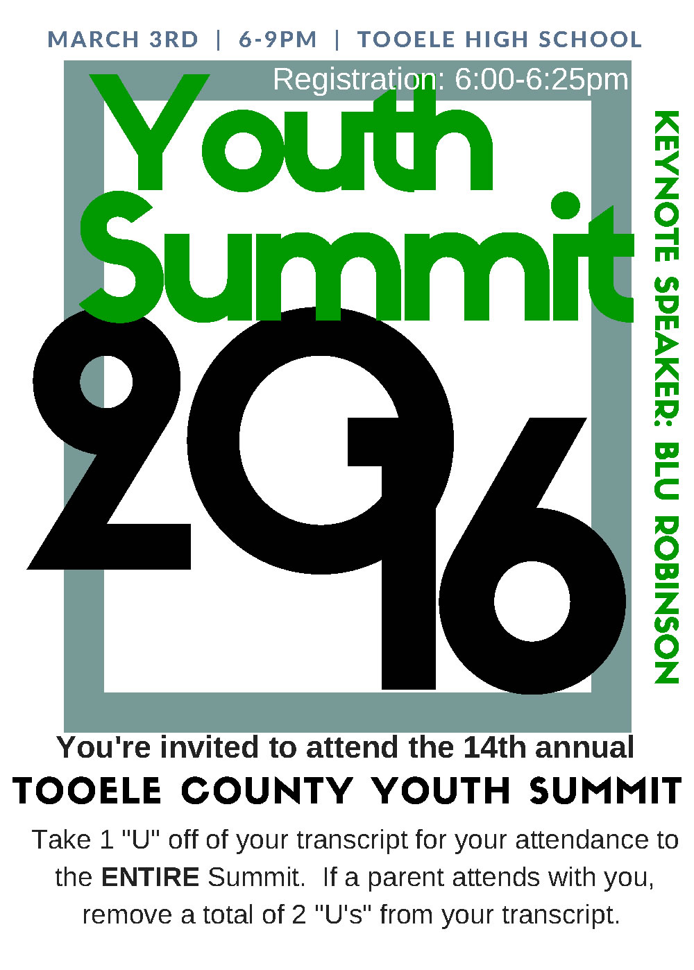 Tooele County Youth Summit 2016 @ Tooele High School | Tooele | Utah | United States