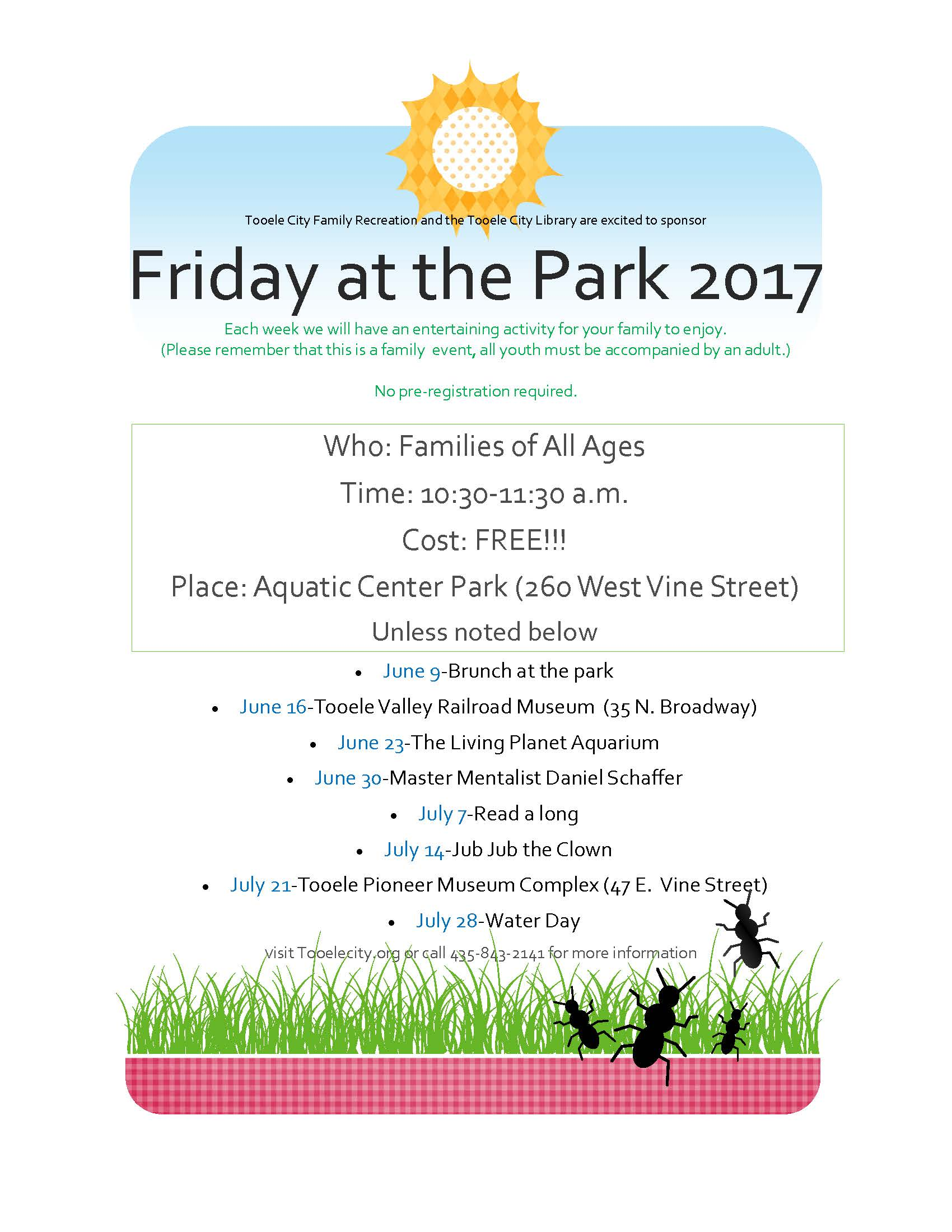 Friday at the Park:  Read-a-long @ Aquatic Center Park | Tooele | Utah | United States