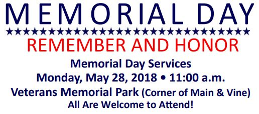 Memorial Day Services @ Veterans Memorial Park | Tooele | Utah | United States