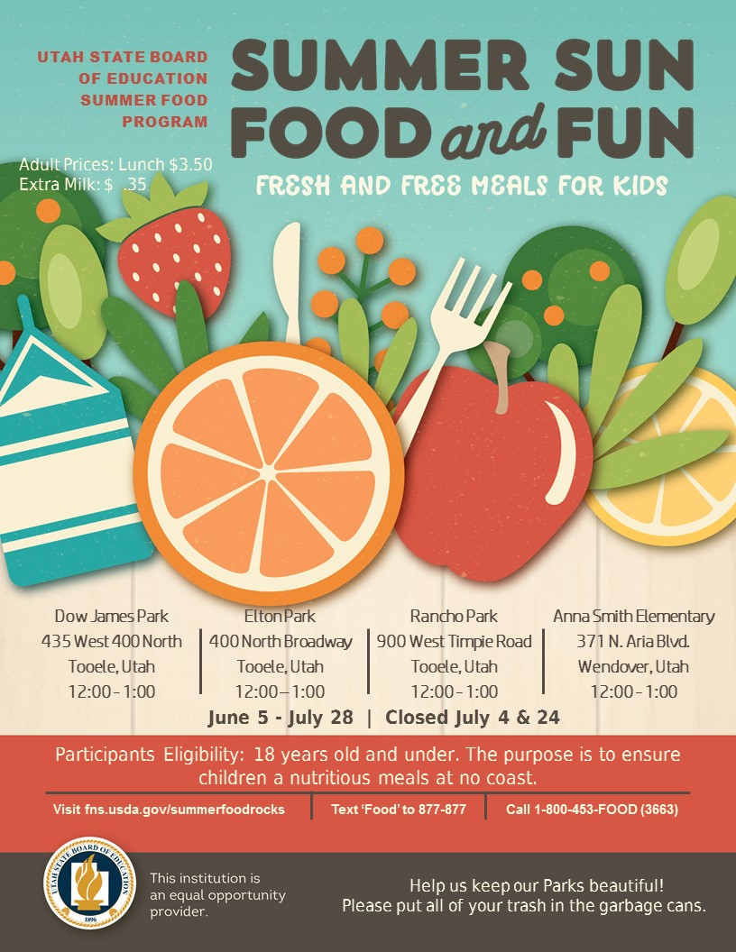 Summer Food Service Program (FREE LUNCH for KIDS)