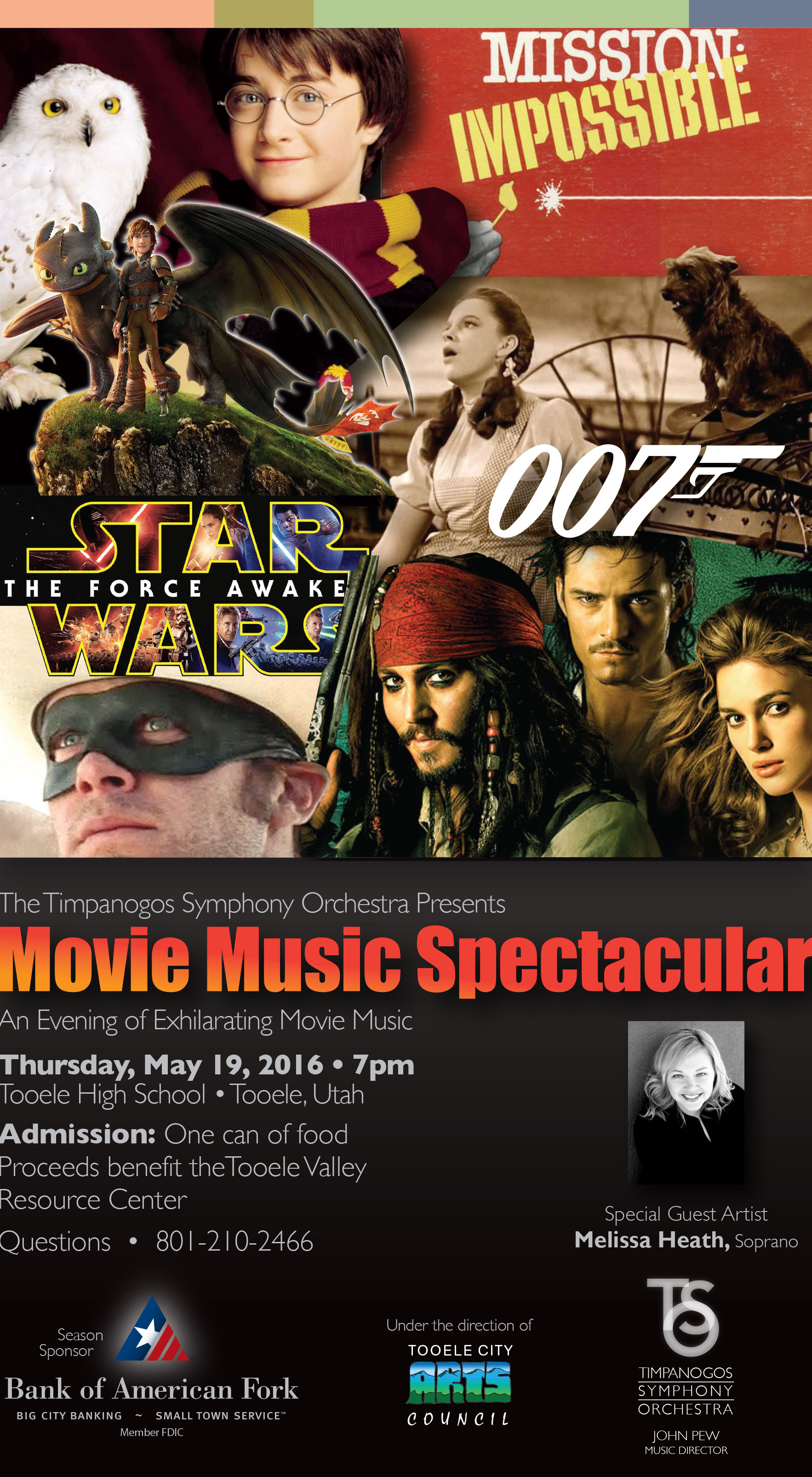 Movie Music Spectacular with the Timpanogos Symphony Orchestra @ Tooele High School Auditorium | Tooele | Utah | United States