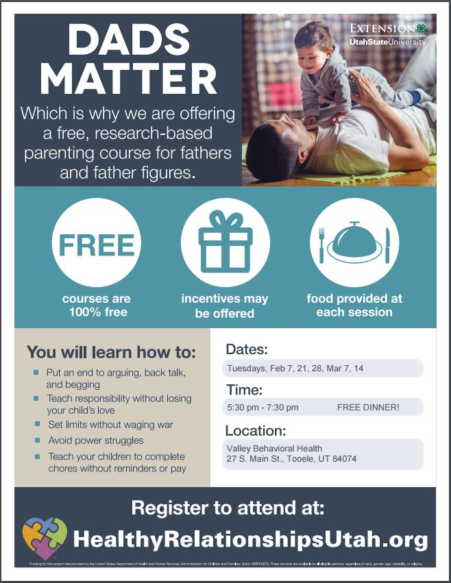 Dads Matter @ Valley Behavioral Health | Tooele | Utah | United States
