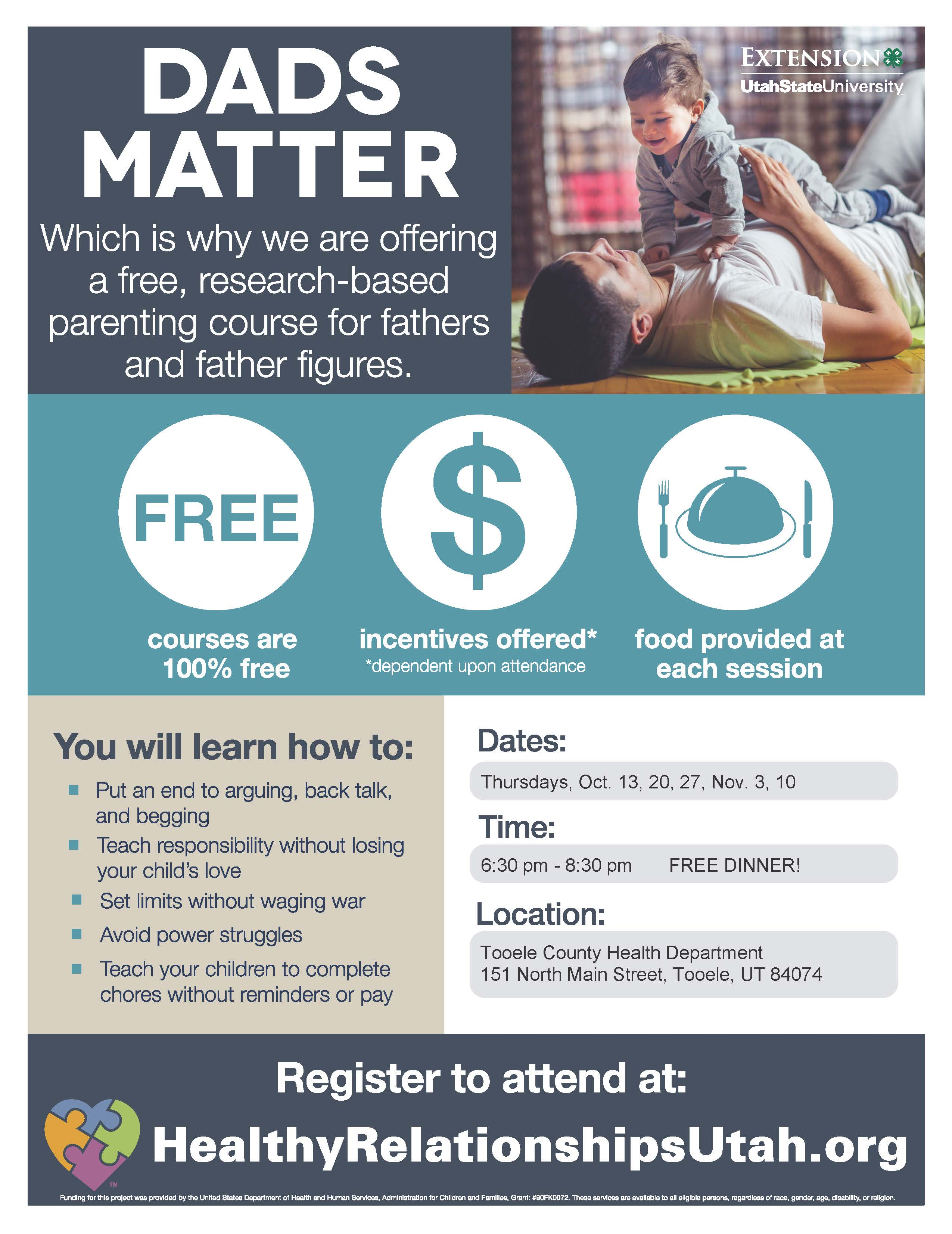 Dads Matter @ Tooele County Health Department | Tooele | Utah | United States