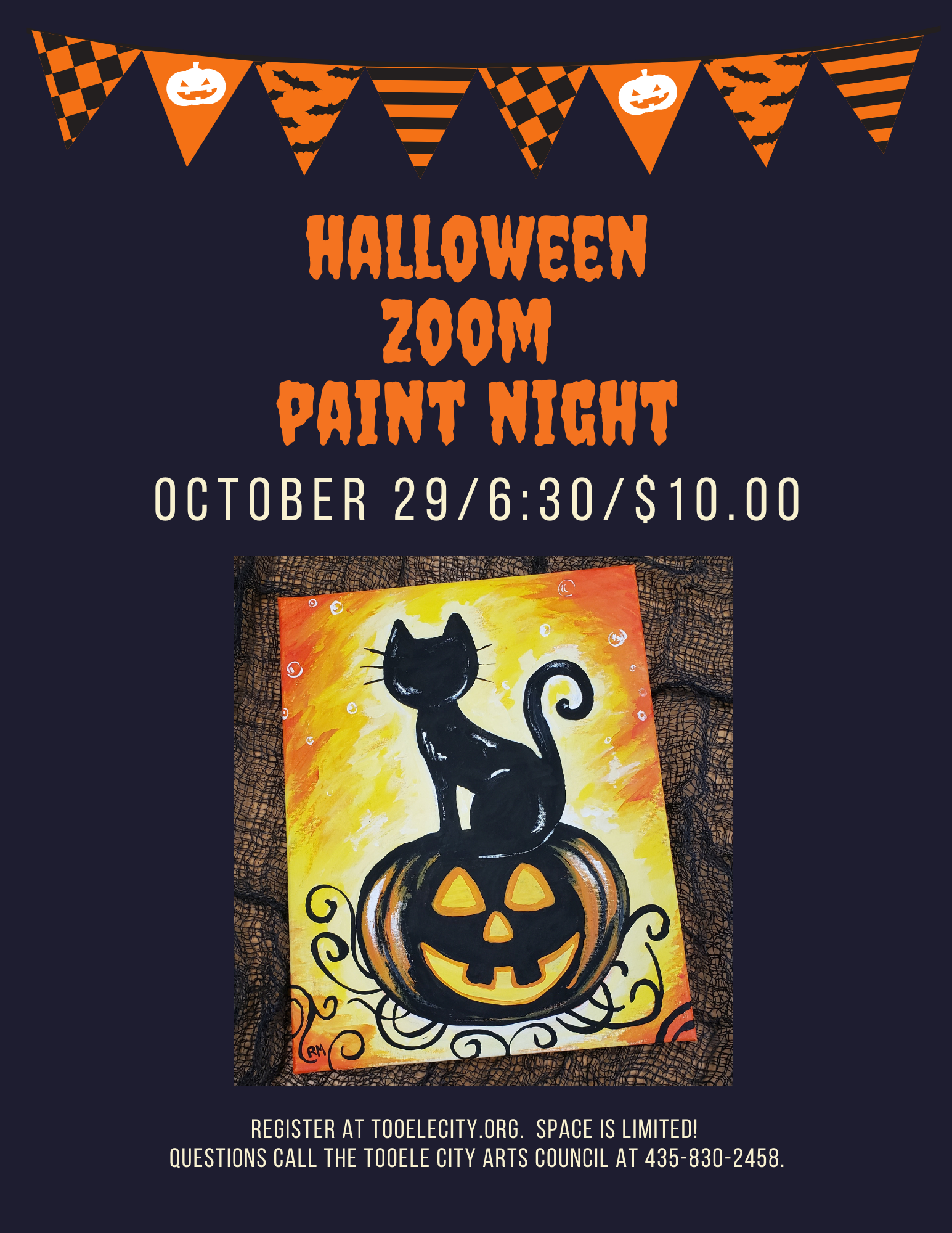 Halloween Zoom Paint Night @ Zoom | Tooele | Utah | United States