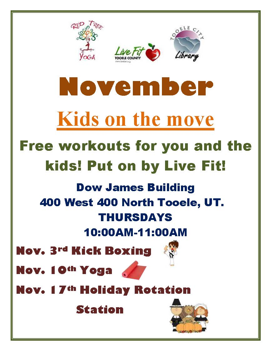 Kids on the Move:  Kick Boxing @ Dow James Building | Tooele | Utah | United States