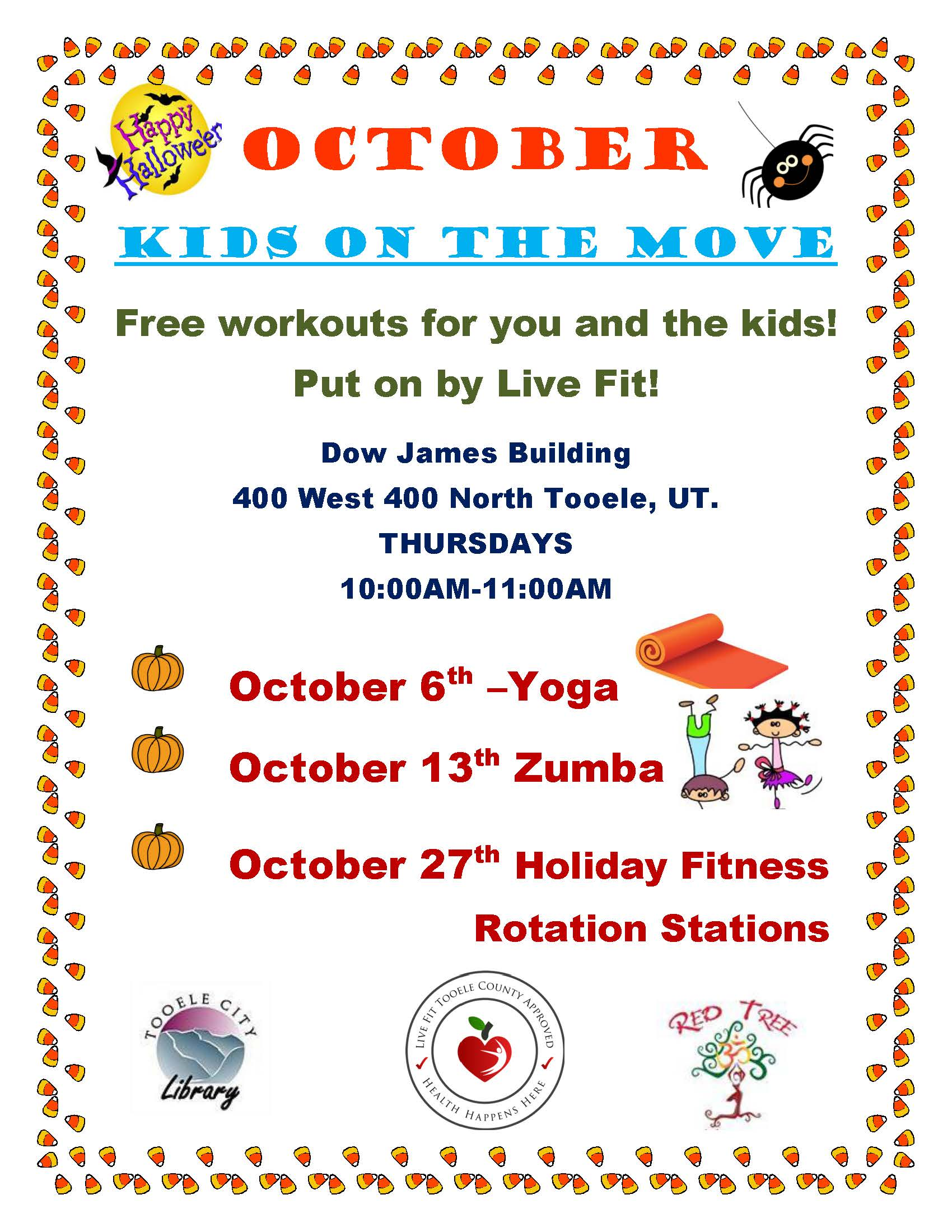 Kids on the Move:  Yoga @ Dow James Building | Tooele | Utah | United States