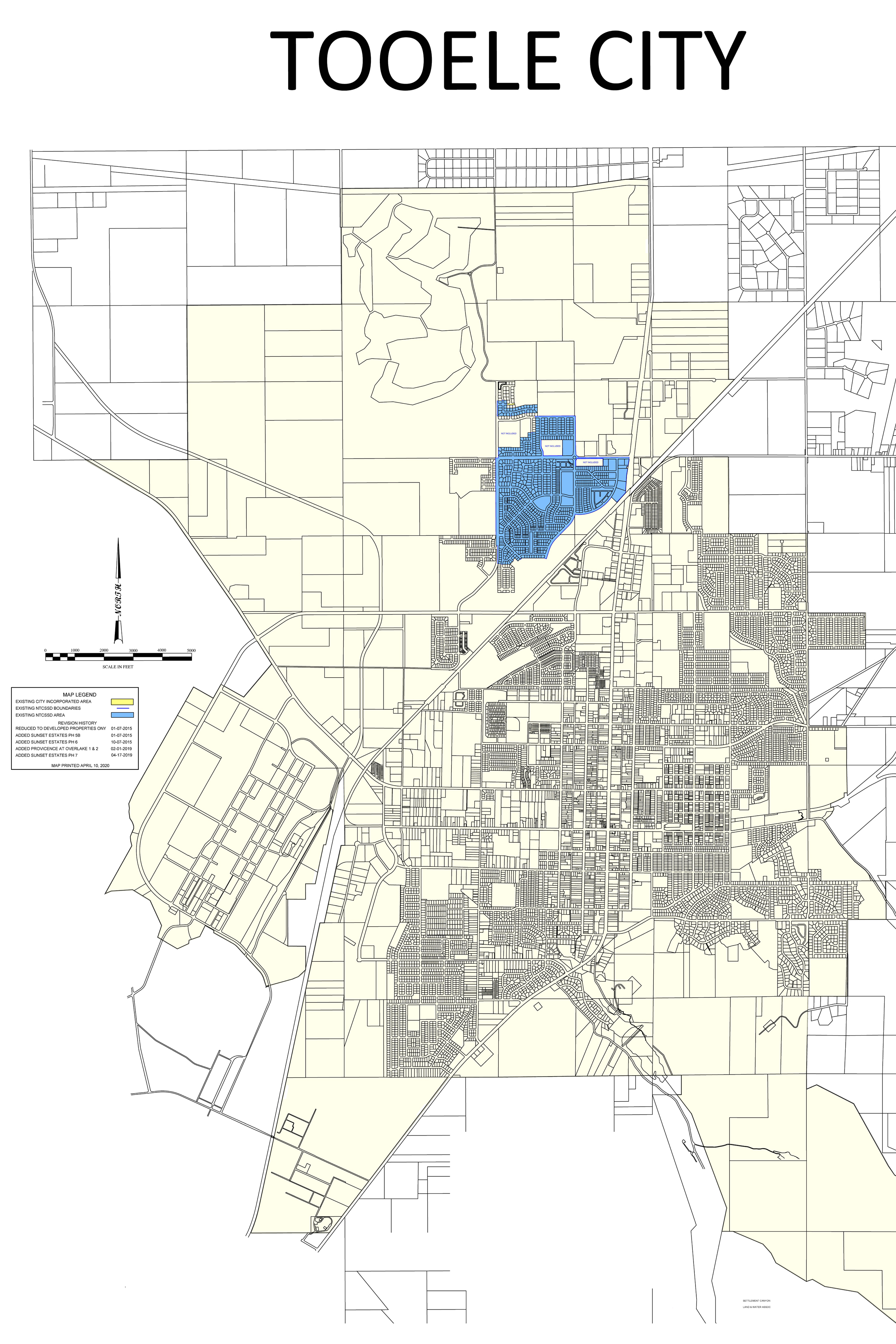 North Tooele City Special Service District Full City Map 04-09-2020