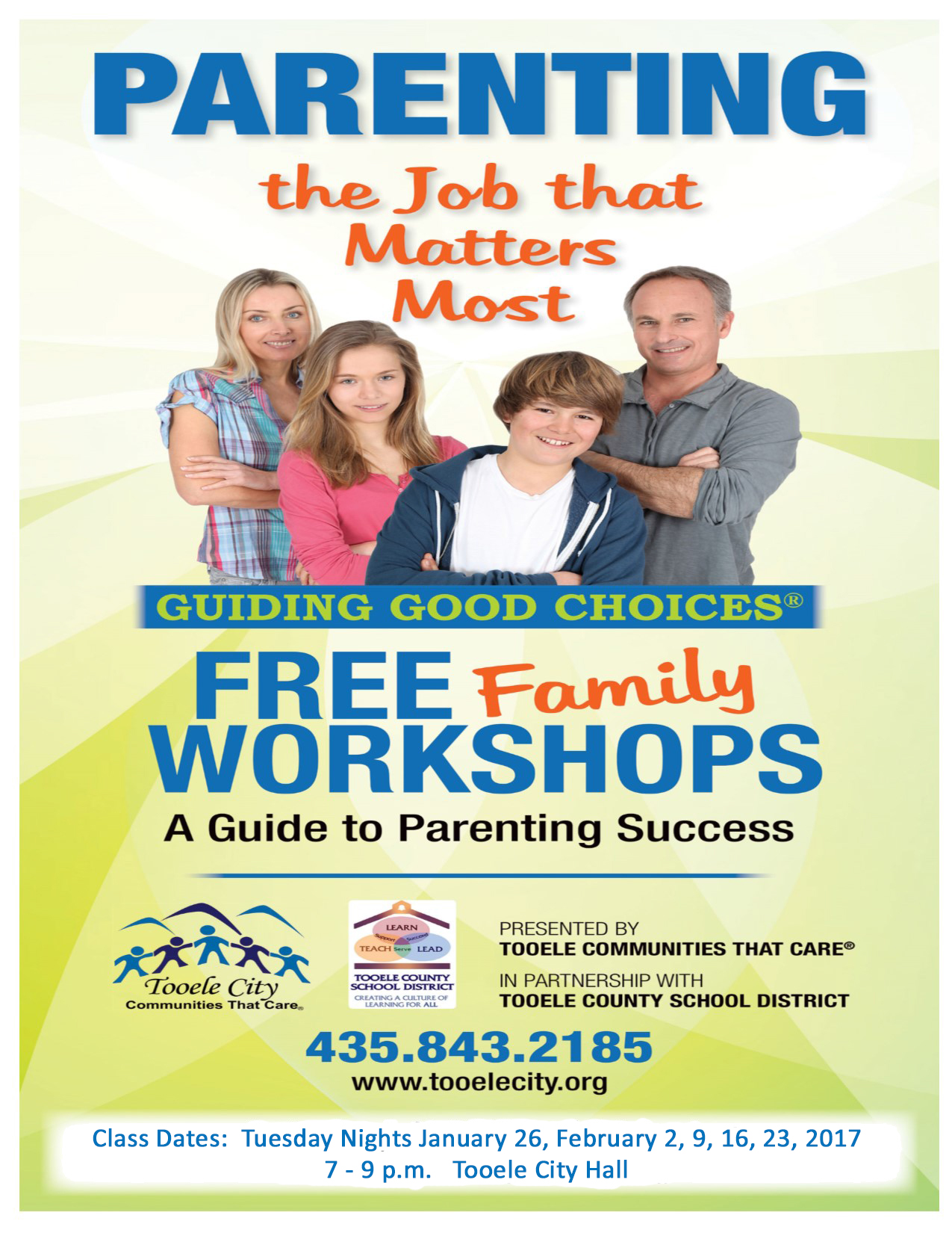 Guiding Good Choices FREE Parenting & Family Workshops (Thursday Nights) @ Tooele City Hall   Tooele   Utah   United States