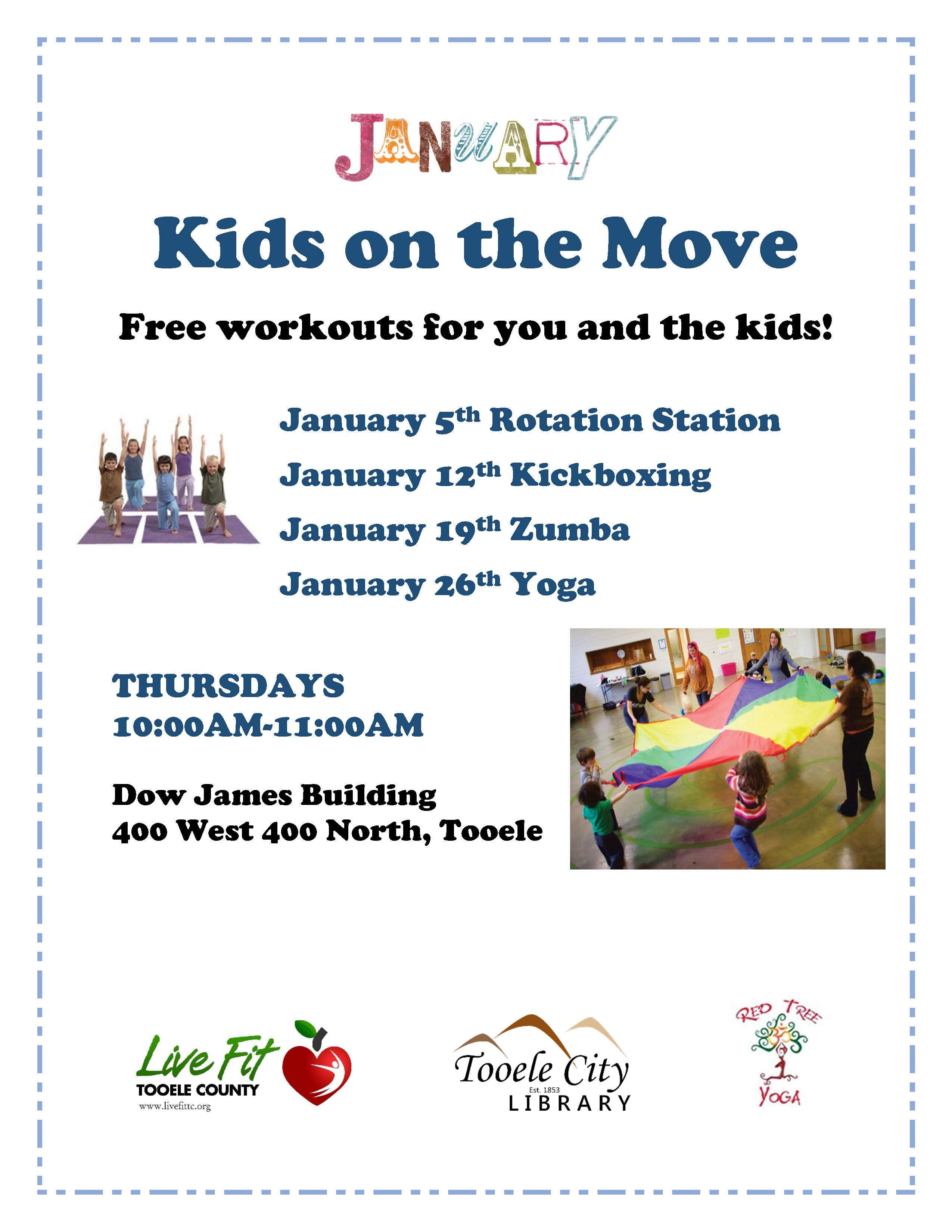 Kids on the Move:  Rotation Station @ Dow James Building | Tooele | Utah | United States