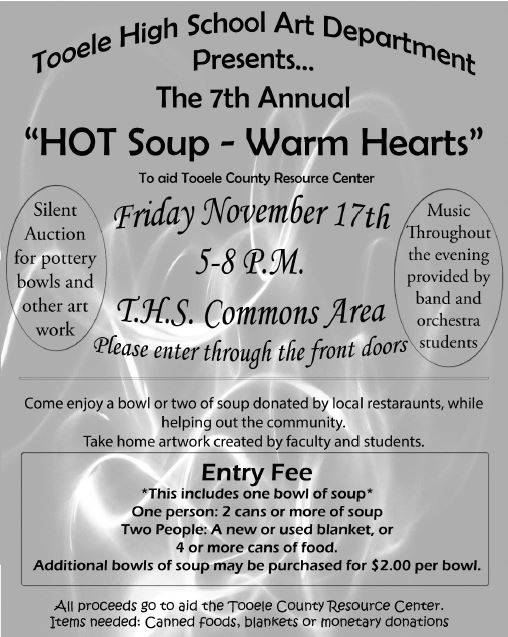 """Hot Soup-Warm Hearts"" 2017 @ Tooele High School Commons Area 