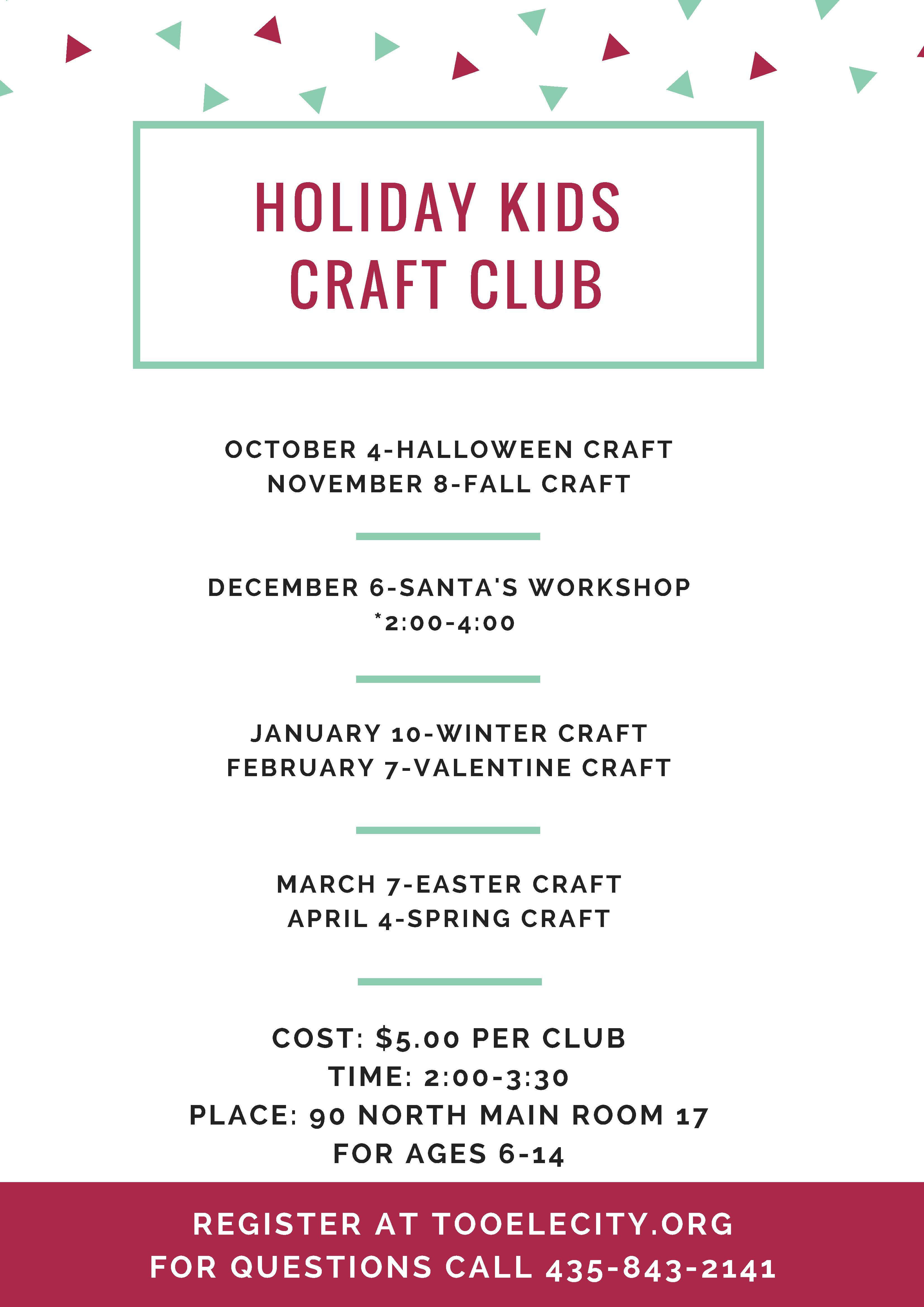 Holiday Craft Club 2017