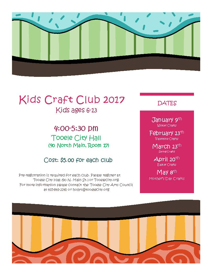 Kids Craft Club 2017 New Location