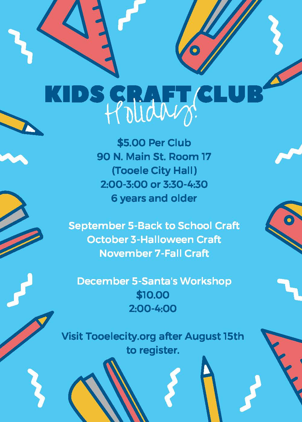 Kids Holiday Craft Club:  Santa's Workshop @ Tooele City Hall | Tooele | Utah | United States
