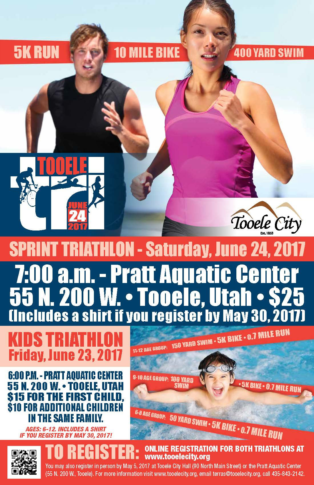 Tooele Tri:  Sprint Triathlon 2017 @ Pratt Aquatic Center | Tooele | Utah | United States