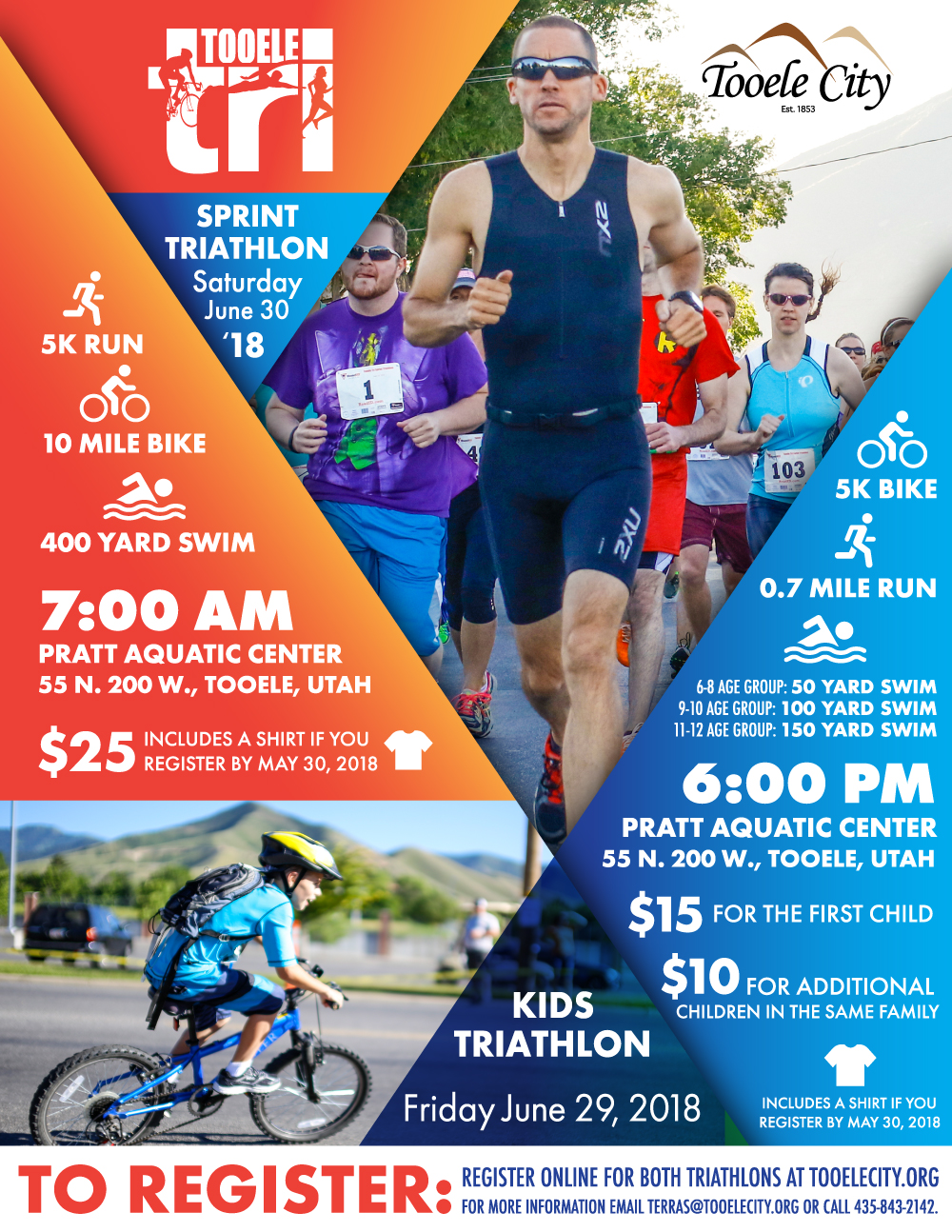 Tooele Tri:  Sprint Triathlon 2018 @ Pratt Aquatic Center | Tooele | Utah | United States