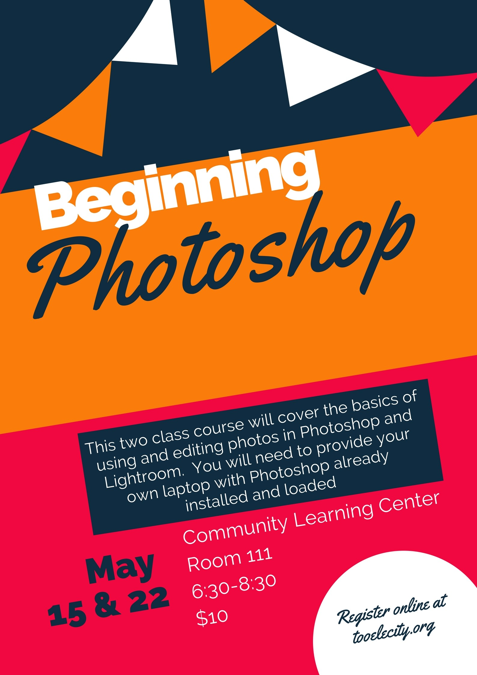 Beginning Photoshop (May 2018) Class Begins @ Community Learning Center Room #111 | Tooele | Utah | United States