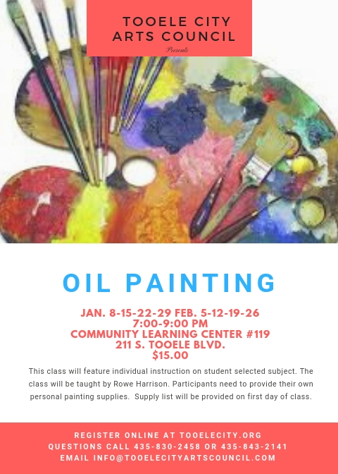 Oil Painting Class @ Community Learning Center Room #119 | Tooele | Utah | United States