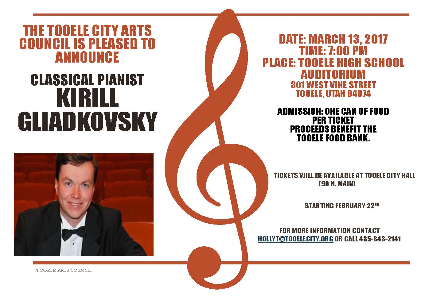 Kirill Gliadkovsky in Concert! @ Tooele High School Auditorium | Tooele | Utah | United States