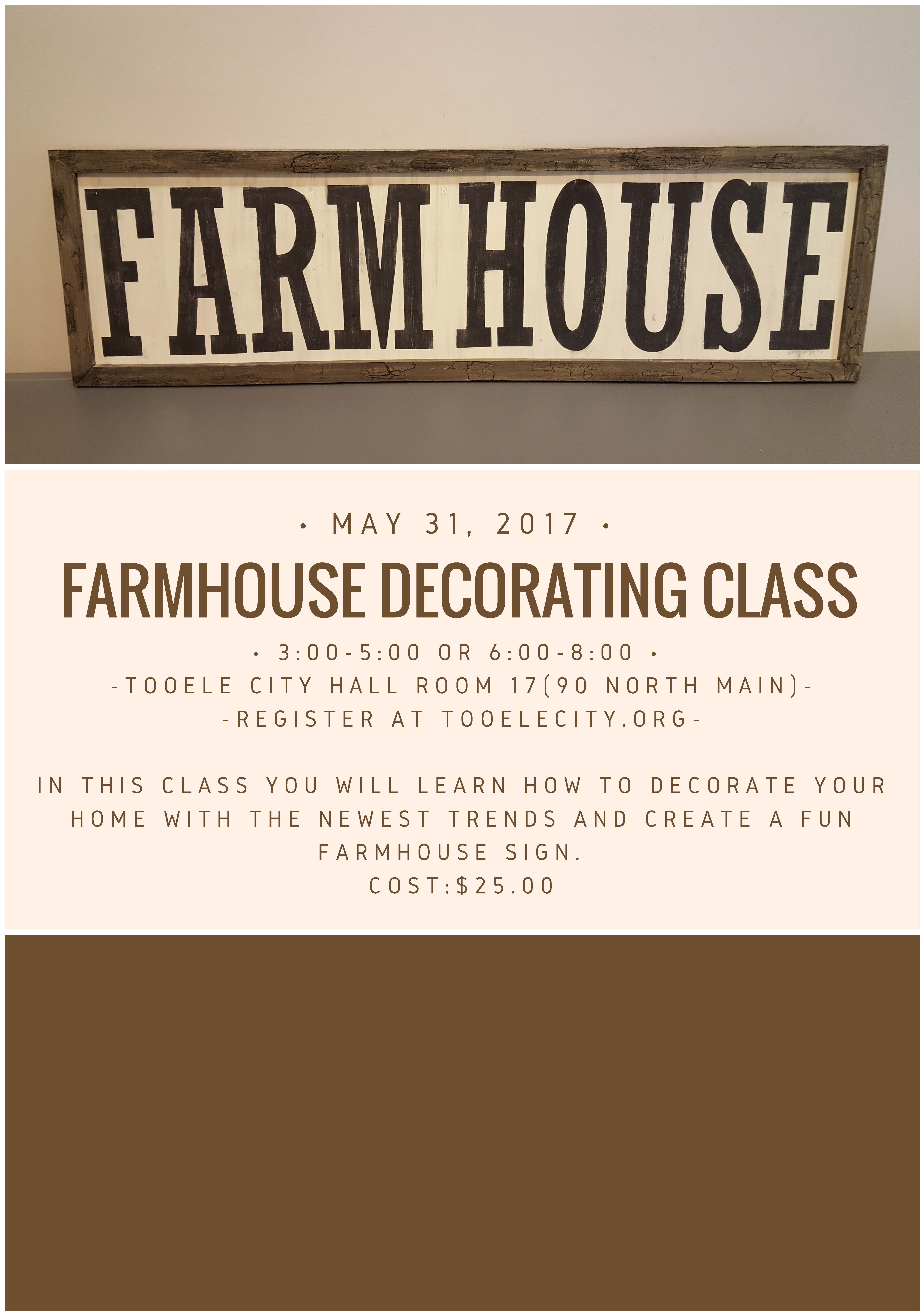 Farmhouse Decorating May 2017
