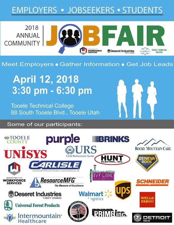 Job Fair 2018 @ Tooele Technical College (TTC) | Tooele | Utah | United States
