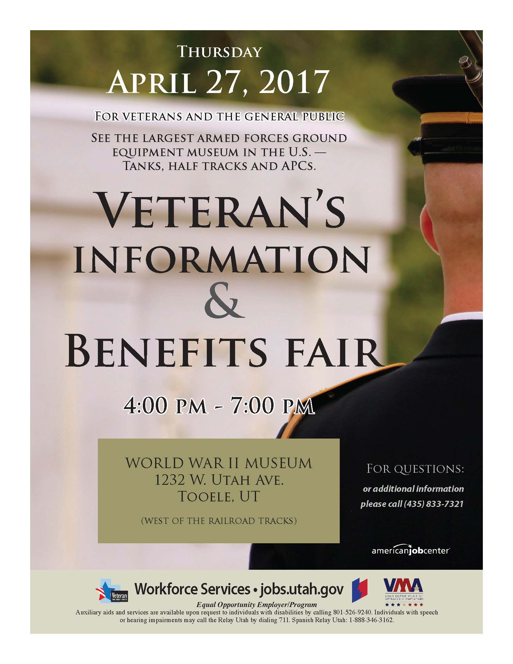 Veteran's Information and Benefits Fair @ World War II Museum | Tooele | Utah | United States