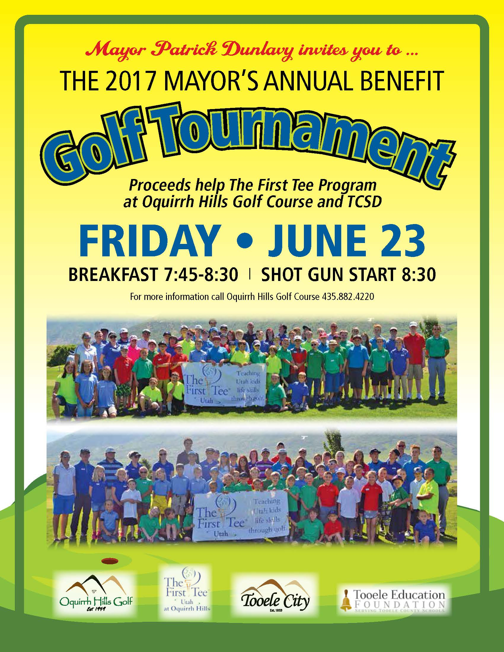 The Mayor's Annual Benefit Golf Tournament 2017 @ Oquirrh Hills Golf Course | Tooele | Utah | United States