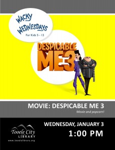 Wacky Wednesday: Despicable Me 3 Movie @ Tooele City Library | Tooele | Utah | United States