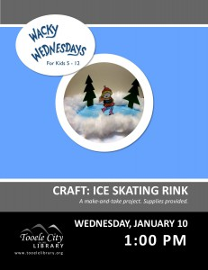 Wacky Wednesday: Ice Skating Craft @ Tooele City Library | Tooele | Utah | United States