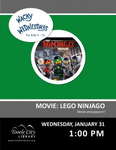Wacky Wednesday: Lego Ninjago Movie @ Tooele City Library | Tooele | Utah | United States