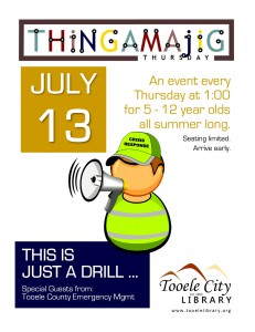 Thing-A-Ma-Jig Thursday: This is Just a Drill! @ Tooele City Library | Tooele | Utah | United States