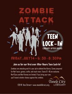 Zombie Attack (Teen Lock-In) @ Tooele City Library | Tooele | Utah | United States