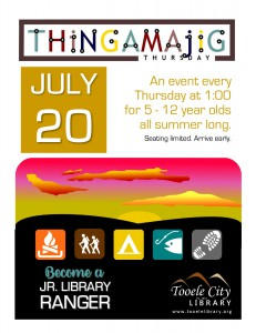 Thing-A-Ma-Jig Thursday: Jr. Library Rangers @ Tooele City Library | Tooele | Utah | United States