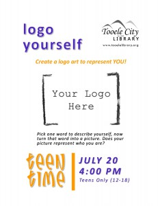 Teen Time: Logo Yourself @ Tooele City Library | Tooele | Utah | United States