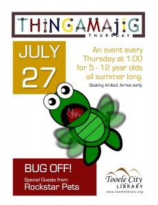Thing-A-Ma-Jig Thursday: Bug Off! @ Tooele City Library | Tooele | Utah | United States