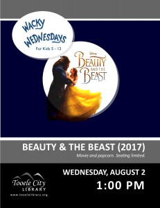 Wacky Wednesday: Beauty and the Beast Movie @ Tooele City Library | Tooele | Utah | United States