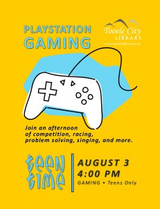 Teen Time: Playstation 3 Gaming @ Tooele City Library | Tooele | Utah | United States