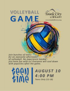 Teen Time: Volleyball @ Tooele City Library | Tooele | Utah | United States