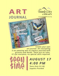 Teen Time: DIY Art Journal @ Tooele City Library | Tooele | Utah | United States