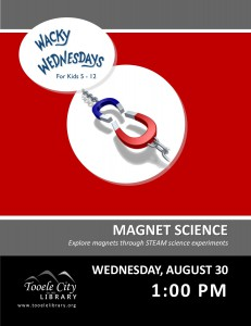 Wacky Wednesday: Magnet Science @ Tooele City Library | Tooele | Utah | United States