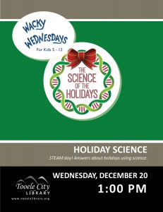 Wacky Wednesday: Holiday Science @ Tooele City Library | Tooele | Utah | United States