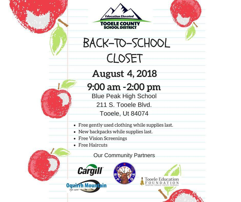 Back-To-School Community Closet 2018 @ Blue Peak High School | Tooele | Utah | United States
