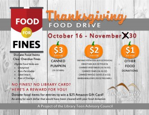 Library: Thanksgiving Food Drive @ Tooele City Library | Tooele | Utah | United States