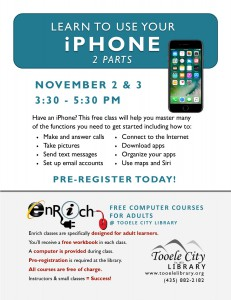 Free Class: iPhone Essentials Part 1 @ Tooele City Library | Tooele | Utah | United States