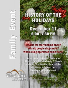 Family Event: History of the Holiday @ Tooele City Library | Tooele | Utah | United States