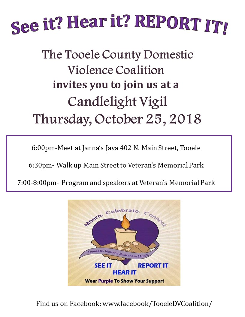 Domestic Violence Awareness Candlelight Vigil 2018 @ Veterans Memorial Park | Tooele | Utah | United States