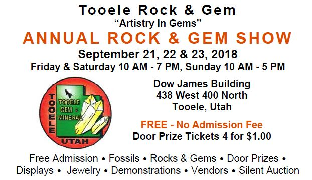 Tooele Gem & Mineral Show @ Dow James Building | Tooele | Utah | United States